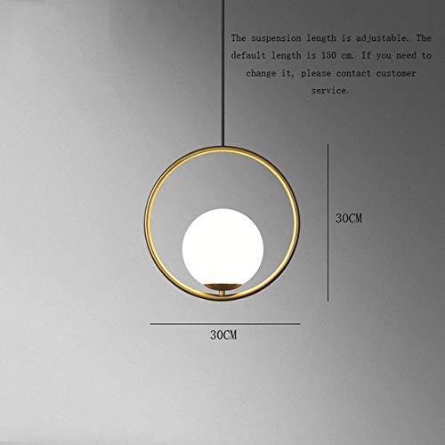 Luces colgantes LED Glass Art Nordic LED Colgante Bola de cristal Lámpara...