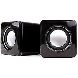 DURAGADGET Altavoces Compactos para Teclado Casio CTK3200 / 781071 SA-76 / CTK-1200/ SA-47H7 / CTK2400 / Yamaha PSR-E353 / PSR-E443 - Conexión Mini Jack + USB