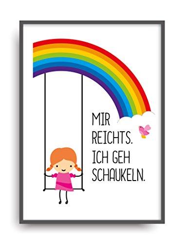 Moderner Vintage Poster Druck SCHAUKELN Fine Art Kunstdruck Deko Bild Print Plakat DIN A4 Geschenk -