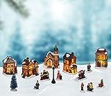 SSITG Beleuchtete Weihnachtslandschaft Weihnachtsstadt Weihnachtsdorf Weihnachten Deko