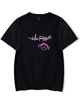 SIMYJOY Pareja Lil Peep Camiseta Llorar Crybaby Streetstyle Tshirt Cool Hip Pop Top Para Hombre Mujer Adolescente
