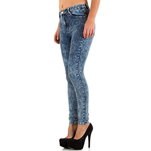 Used Look High Waist Skinny Jeans Für Damen bei Ital-Design Blau
