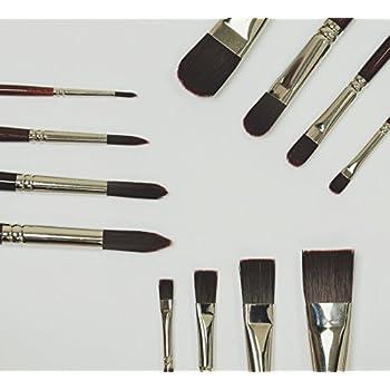 Meister SPIN 18er - Pinselset Größen 0 – 10, 18 Stk. Profi- Pinsel für Acryl und Ölfarben