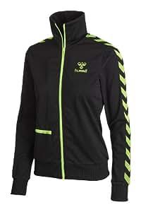 Hummel Damen Zip Jacke Classic Bee Womens Zip Jacket, black/green gecko, XS, 36-320-2986
