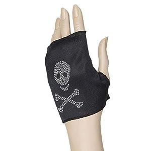 WIDMANN Woman?s Skull Fingerless Glove (accesorio de disfraz)
