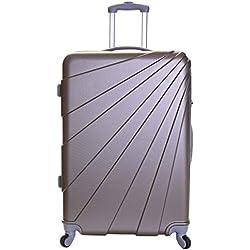 Slimbridge Valise Rigide Grande Taille XL Bagage 76 cm 4,5 kg 100 Litre 4 roulettes, Fusion Champagne