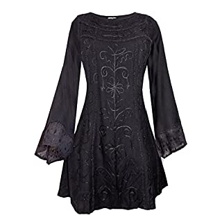 AEON Details About Long Black Medieval Princess Plus Size TOP 18 20 22 24 26 28 30 32 XL 2XL 3XL + (26/28)