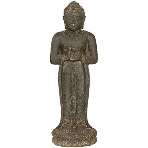 Pie de Buda de piedra/piedra Buda 50cm para casa y jardín