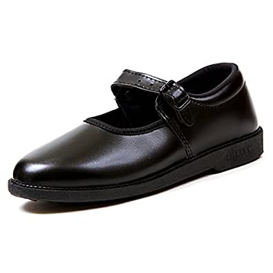 Liberty Girl School Black Shoes (Size 1C UK/Age 7-8 Year./Lengths 21.3 cm.s)