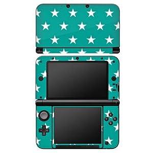 Nintendo DS Case Skin Sticker aus Vinyl-Folie Aufkleber Polka Sterne Türkis Muster