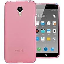Prevoa ® 丨 MEIZU M1 NOTE Funda - Silicona TPU Funda Cover Case para MEIZU M1 NOTE 5.5 Pulgadas Smartphone - ROSA