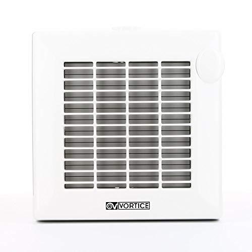 Vortice Aspiratore Elicoidale da Muro da Bagno Automatico con Timer Elettronico Portata 90 m3/h Diametro Nominale 100 mm 11231