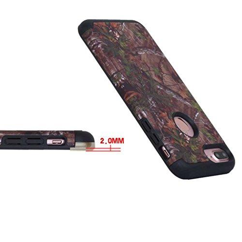 Custodia Iphone 7, con protezione per lo schermo in vetro temperato], boxtii® Morbido TPU + PC cover rigida, antigraffio assorbimento degli urti 2in 1Cover Posteriore Protettiva Per Apple iPhone 7,  #7 Brown