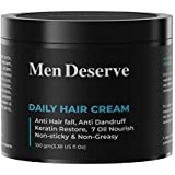 Men Deserve Daily Hair Cream (7 oil nourish) for Hair fall control, Dandruff Control,and Keratin Restore