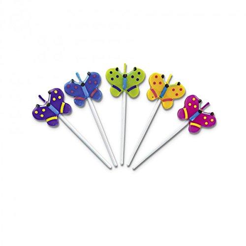 Geburtstag-kerze-sticks (Haus Schmetterlinge Sticks Kerze-Set, mehrfarbig, 4-teilig)