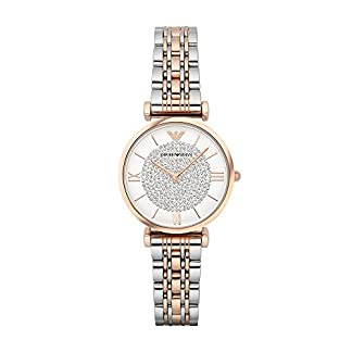 Emporio Armani Gianni T-bar Analog White Dial Women's Watch – AR1926