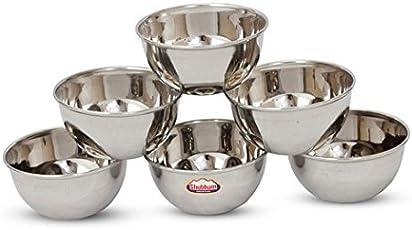 Shubham Steel Bowl 6 Pcs Set 9Cm Small - M Vatti S10