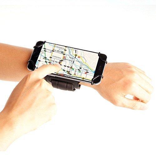 TFY 4-5.8 zoll Handy Offen-Gesicht Sport Armbinde+Schlüsselhalter - (nur passen Telefon Ecke Tiefe:9.2mm)- (Open-Gesicht - Direktzugriff,berühren Bildschirm,schwarz/ (Passen Zwei Gesicht)