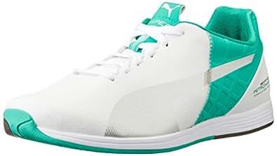 Puma Mercedes MAMGP Evospeed 1.4 Men's Sneakers, 305492 02, White-Silver-Green, UK 7/EU 40.5