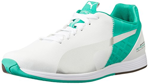 Puma MAMGP Evospeed Next, Baskets Basses Homme Blanc (White/Silver/Spectra Green)
