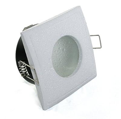 5er Set Einbaustrahler Aquarus-S Eckig 230V IP65 Farbe: Weiß 5W Power LED Daylight Dimmbar entspricht 50W Halogenlampe von Kamilux