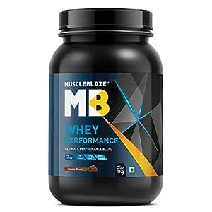 MuscleBlaze Whey Protein Performance (1 Kg / 2.2 lb, Chocolate)
