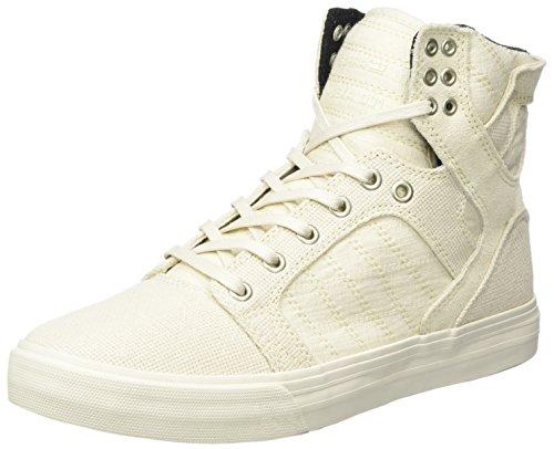 Supra Herren Skytop Sneaker, Weiß Off White, 45.5 EU