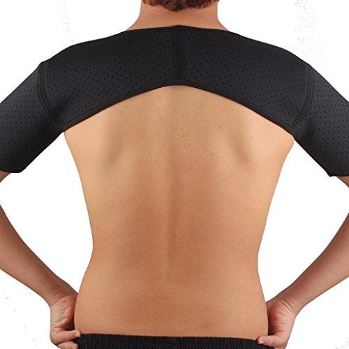 SM SunniMix Neopren Verstellbare Schulterbandage für Rotatorenmanschette Verletzungen,Reduziere Schulterschmerzen. Schulterwärmer passend für Linke und Rechte Schulter, für Männer & Frauen - Doppel-Schulter -