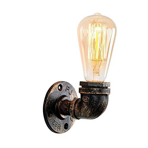 Retro Wandleuchte OYI Vintage Wandlampe Insustrie Lampe Wasserrohr Licht mit E27 Lampefassung für Flur Gang Schlafzimmer Korridor Restaurant -