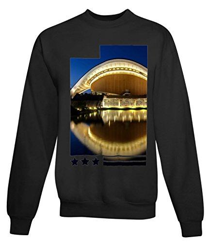 Billion Group | Lighted Building | City Collection | Women's Unisex Sweatshirt Noir