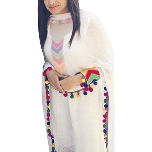 White Pure Cotton Salwar Suit (Un-Stitched)