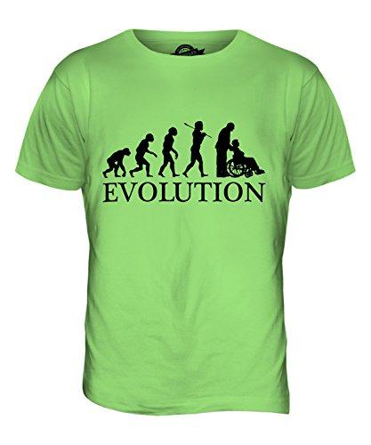 CandyMix Pflegerin Evolution Des Menschen Herren T Shirt Limettengrün