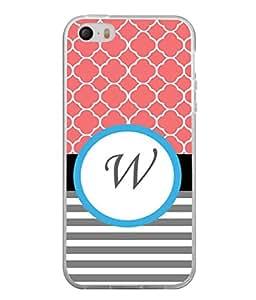 PrintVisa Designer Back Case Cover for Apple iPhone 4S (srylish look of letter W)