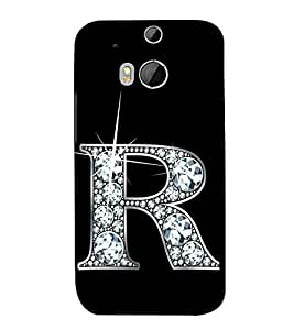 Alphabet R 3D Hard Polycarbonate Designer Back Case Cover for HTC One M8 :: HTC M8 :: HTC One M8 Eye :: HTC One M8 Dual Sim :: HTC One M8s