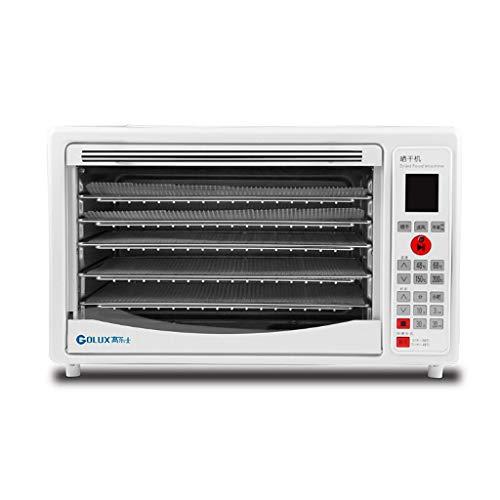 YiYi Fruit dryer Food Dehydrator Maschinenofen, 5 Edelstahl-Trockengestelle, mehrstufiger Lebensmittelkonservierer, Zeittemperatur-Digitalsteuerung, leicht zu reinigen, zu bedienen