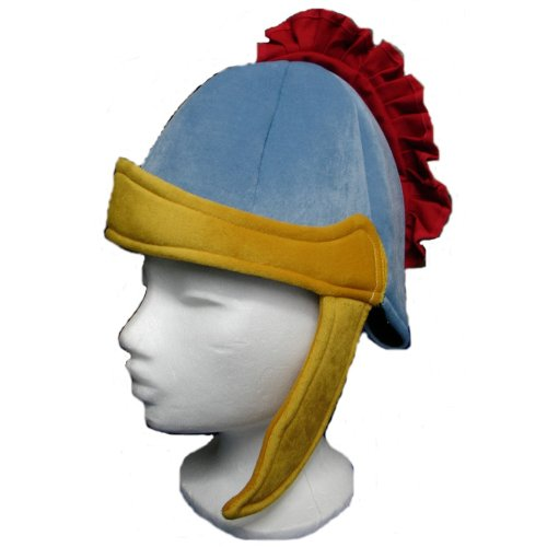 er Römerhelm aus Stoff, rot/blau/gelb (1 Stück) ()