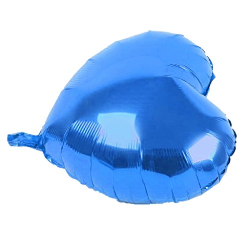 Sharplace 10pcs Liebe Herz Form Helium Folie Ballon Party Dekoration - Blau