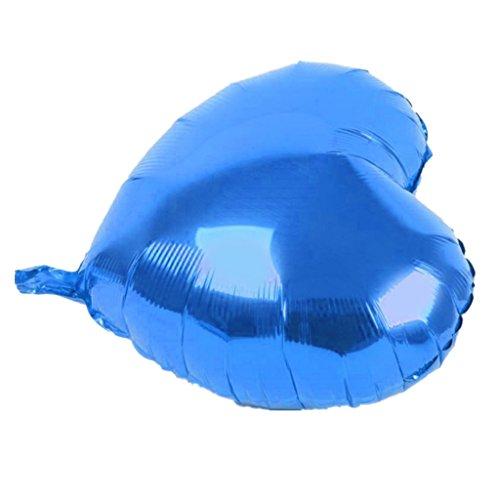 e Herz Form Helium Folie Ballon Party Dekoration - Blau ()