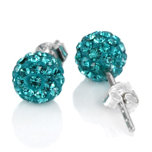 925-sterling-silver-shamballa-swarovski-crystal-10mm-size-disco-ball-studs-earrings-blue-zircon