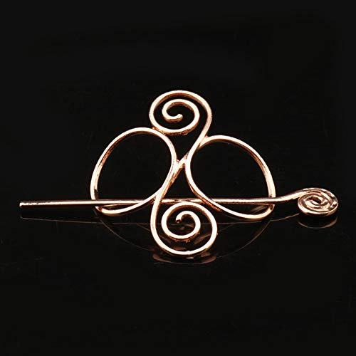 Celtic Hair Clips, Wikinger Metall Knoten, Haarnadeln, Piraten-Rune Dragons Hair Slide Stick - Irish Hair Decor - Women Hair Accessories Gift - Womens Schmuck Celtic