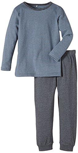 NAME IT Jungen Zweiteiliger Schlafanzug 13111104, Gr. 104, Grau (Dark Grey Melange)