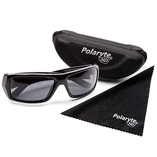Polaryte HD–Sonnenbrille, polarisiert, HD-Sicht, Schutz vor UVA, UVB, UV400, schwarz