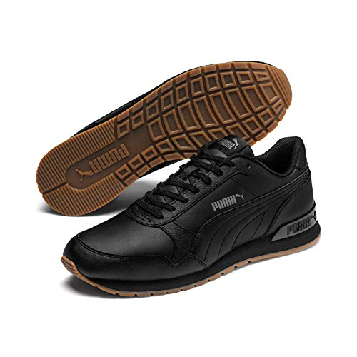 PUMA Unisex-Erwachsene St Runner V2 Full L Sneaker,Schwarz(Puma Black-Castlerock-Puma White 08),42 EU(8)
