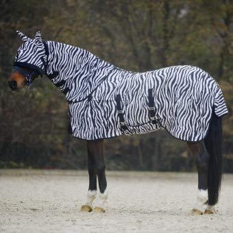 Waldhausen Fliegendecke Zebra. 75 cm, schwarz/weiß, 75 cm