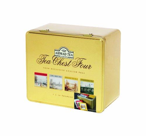 Tea Chest Four - Vier Exklusiv Englisch Teas, 4 x 10 Teebeutel Selection-Pack