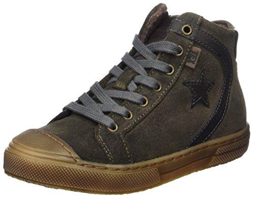 Bisgaard Unisex-Kinder Schnürschuhe Hohe Sneaker, Grün (1006-1 Army), 38 EU