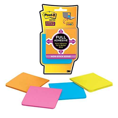 post-it-super-sticky-76mm-x-76mm-full-adhesive-notes-pad-assorted-colours-pack-of-4-25-notes-per-pad