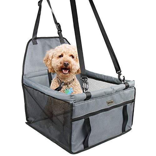 Seggiolino auto per cani da compagnia, seggiolino auto zellar traspirante protettivo zanzariere borsa da viaggio con guinzaglio di sicurezza per cani di piccola taglia cuccioli di gatto