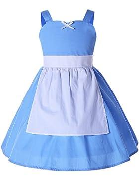 Pettigirl Ragazze Principessa Vestito Fantasia Costume Solido Halloween Partito Sundress 3-7 Anni