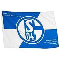 "FC Schalke 04 Hissfahne/ Hissflagge ""Erfolge"" 90x60 cm (Fahne) (2 Ösen)"